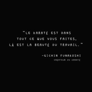 Citation karaté de Gichin Funakoshi en français